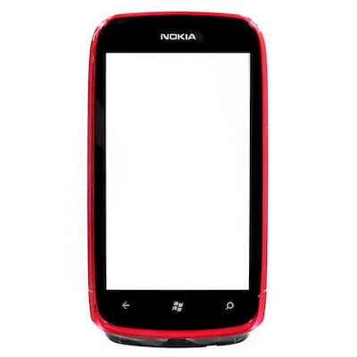 NOKIA LUMIA 610 TOUCH SCREEN E COVER FRONTALE MAGENTA