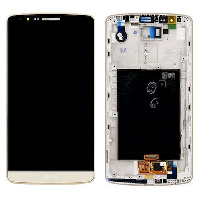 LG D855 G3 LCD DISPLAY + TOUCH UNIT + FRONT COVER GOLD - LG