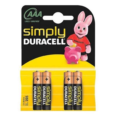 BATTERIE MINISTILO AAA DURACELL SIMPLY POWER MN2400/LR03 4PZ