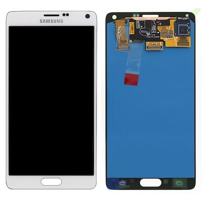 LCD TOUCH SCREEN E VETRO COMPLETO BIANCO PER SAMSUNG GALAXY NOTE 4 N910F