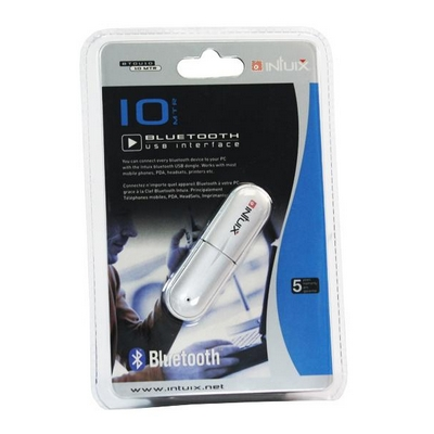 USB 2.0 PENNA BLUETOOTH DONGLE ADATTATORE INTUIX 10M IXCOBTDU10