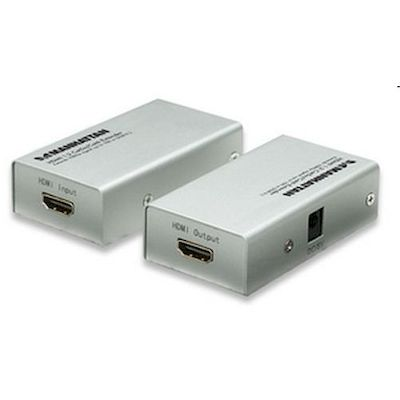 ESTENSORE SEGNALE VIDEO HDMI CAT 5/6 SU 2 CAVI 50/100 MT EXTENDER
