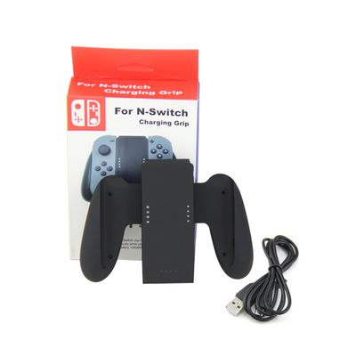 NINTENDO SWITCH CHARGING GRIP BASE RICARICA NERO CON BATTERIA 1000MAH