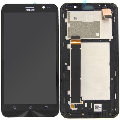 LCD DISPLAY TOUCH SCREEN E VETRO NERO CON FRAME PER ASUS ZENFONE GO 5.5 ZB551KL
