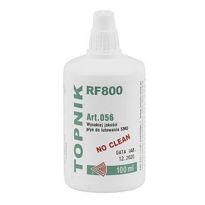 FLUSSANTE LIQUIDO PER SALDATURE FLUX TYPE TOPNIK RF 800 DO SMD 100ML