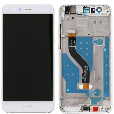 LCD DISPLAY TOUCH SCREEN E VETRO CON FRAME BIANCO PER HUAWEI P10 LITE