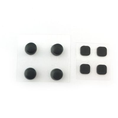 RUBBER NUBS SCREW COVERS SET REPLACEMENT PARTS FOR NEW 3DS XL SILVER-BLACK - NET