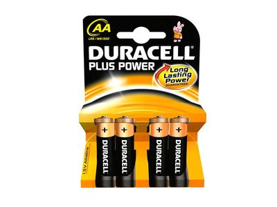 AA DURACELL PLUS POWER MN1500/LR6 BATTERY 4PCS