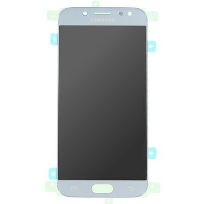 LCD AND TOUCH SCREEN COMPLETED SILVER BLUE FOR SAMSUNG J530 J5 2017 - SAMSUNG