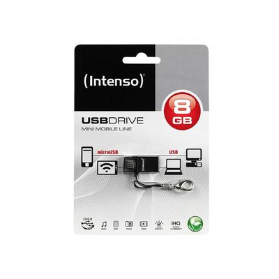 CHIAVETTA USB FLASHDRIVE INTENSO MINI MOBILE LINE OTG 8GB 2IN1
