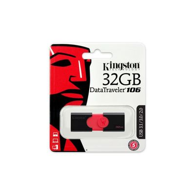 KINGSTON USB 3.0 FLASH DRIVE DATATRAVELER 106 32GB DT106/32GB
