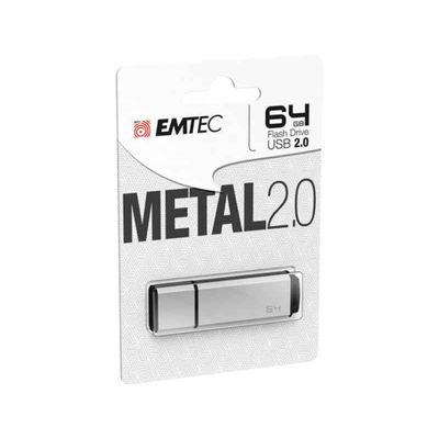 USB 2.0 FLASHDRIVE 64GB EMTEC C900 METAL