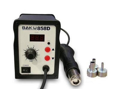 BAKU BK-858 SMD 2 IN 1 REWORK SOLDERING STATION 110V HOT AIR GUN LED LIGHT  - BA