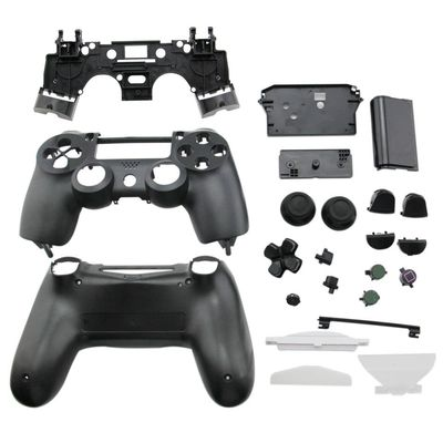PS4 Slim Controller guscio di ricambio Full Case Set V1.0 nero lucido
