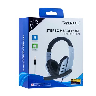 DOBE STEREO HEAPHONE FOR PS5/PS4/XBOX ONE SERIES/XBOX 360/NINTENDO SWITCH/PC - D