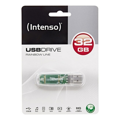 CHIAVETTA USB 2.0 FLASHDRIVE INTENSO RAINBOW LINE 32GB