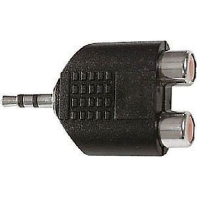 3,5MM JACK STEREO PLUG TO 2 RCA SOCKETS ADAPTOR - ELCART