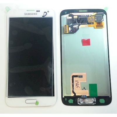 LCD TOUCH SCREEN E VETRO COMPLETO BIANCO SAMSUNG GALAXY S5 G900