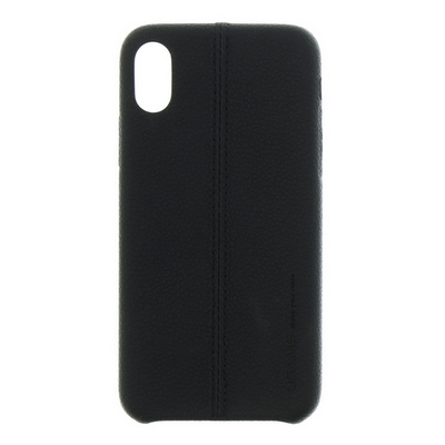 PROTECTION COVER USAMS JOE LEATHER HARD CASE BLACK FOR IPHONE X XS - USAMS