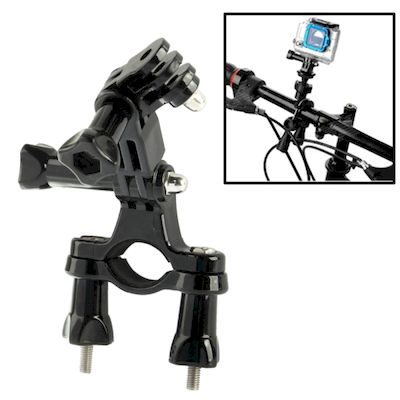 SUPPORTO DA BICI A 3 SNODI PER GOPRO HD HERO 2 / 3 / 3+ / 4