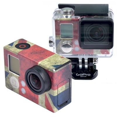 ADESIVO BANDIERA UK FLAG RETRO PER CAMERA GOPRO HERO 3 - 3+