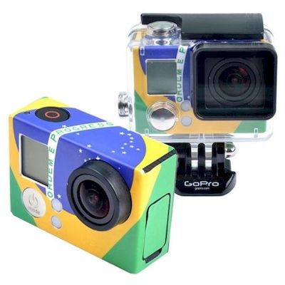RETRO BRAZIL FLAG PATTERN STICKER FOR GOPRO HERO 3 - 3+ - N SHOP