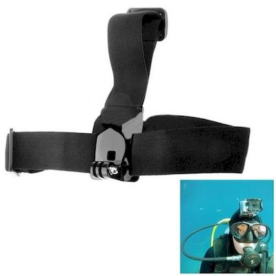 FASCIA DA TESTA ANTI-SCIVOLO ST-24 PER CAMERA GOPRO HD HERO 2 / 3 / 3+ / 4
