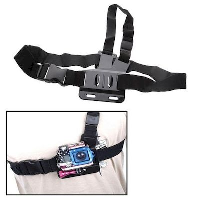 ST-88 LIGHT WEIGHT 3 POINTS CHEST BELT FOR GOPRO HD HERO 2 / 3 / 3+ / 4 CAMERA -