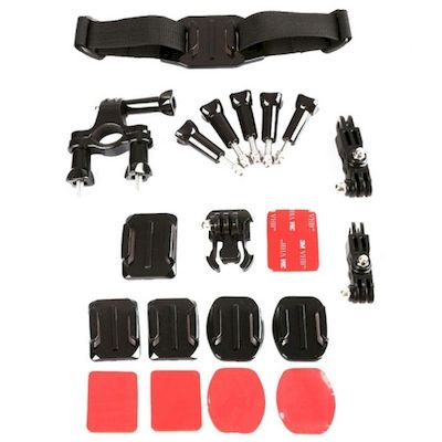 KIT ACCESSORI 11IN1 FASCE E SUPPORTI PER CAMERA GOPRO (KT-101)