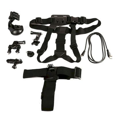 KIT ACCESSORI 6IN1 FASCE E SUPPORTI PER CAMERA GOPRO (KT-104)
