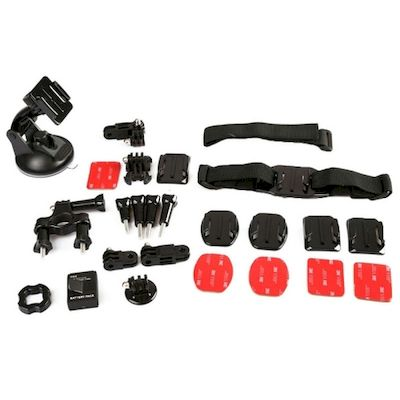 KIT ACCESSORI 11IN1 FASCE E SUPPORTI PER CAMERA GOPRO (KT-105)