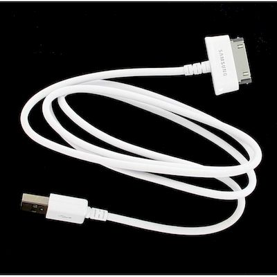 USB DATA CABLE WHITE FOR TABLET SAMSUNG GALAXY TAB 1 E 2 ECBDP4AWE - SAMSUNG