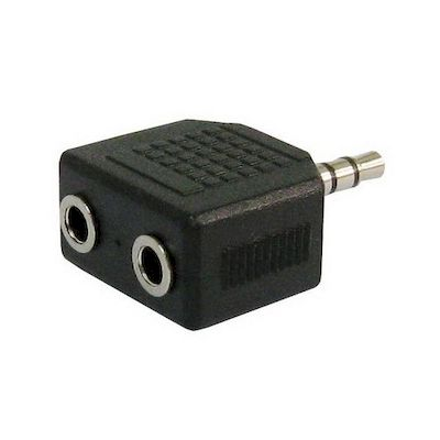 3,5MM JACK STEREO PLUG TO 2 JACK SOCKETS ADAPTOR EP-305 - NETWORK SHOP