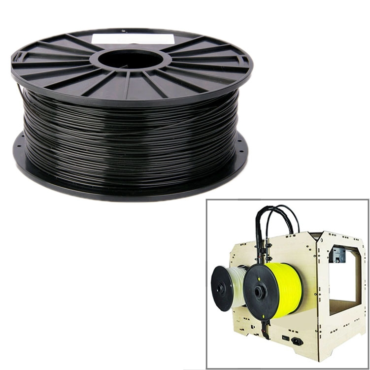 FILAMENTO IN PLA 1.75 MM PER STAMPANTI 3D PRINTER BOBINA NERA 1KG