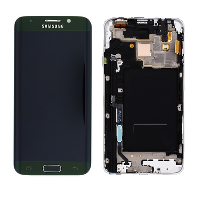 LCD TOUCH SCREEN E VETRO VERDE PER SAMSUNG GALAXY S6 EDGE G925 CURVO
