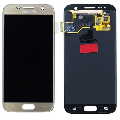 LCD TOUCH SCREEN E VETRO COMPLETO GOLD PER SAMSUNG GALAXY S7 G930