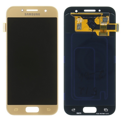 SCHERMO LCD TOUCH SCREEN E VETRO GOLD PER SAMSUNG GALAXY A320 A3 2017