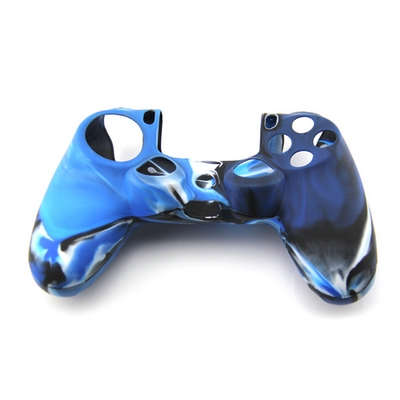 COVER IN SILICONE CAMOUFLAGE BLU PER CONTROLLER PS4 DUAL SHOCK 4