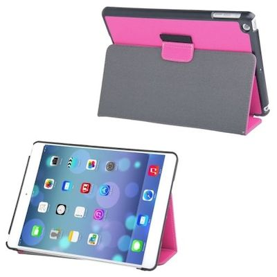 CASE CUSTODIA A LIBRO IN PELLE DENIM ROSA CON SLEEP/WAKE UP PER IPAD AIR