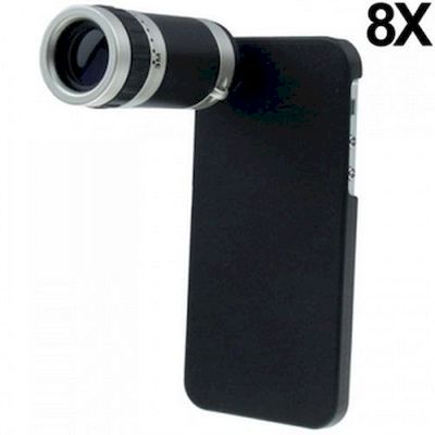IPHONE 5 CAMERA LENS ZOOM 8X WITH PLASTIC CASE - N SHOP