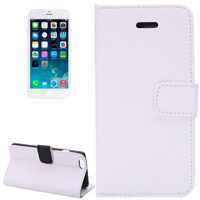 CUSTODIA ORACLE TEXTURE FLIP LEATHER CASE CON STAND PER IPHONE 6 BIANCO