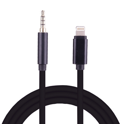 8 PIN MALE TO 3.5MM AUDIO AUX MALE CABLE 8CM FOR IPHONE 7 / 7 PLUS - N SHOP