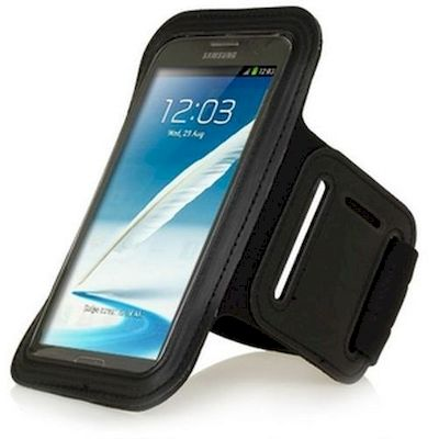 JUMP SPORT ARMBAND NERO PER SAMSUNG NOTE + IPHONE 6 PLUS (SANT-01)
