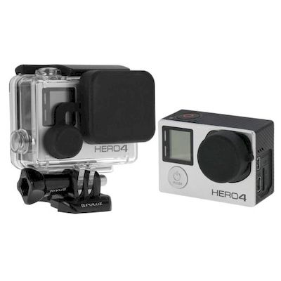 PROTECTIVE CAMERA LENS CAP + HOUSING CASE COVER SET FOR GOPRO HERO 4/3+/3 - N SH