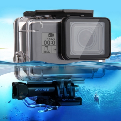 CASE PROTETTIVO WATERPROOF CLEAR E SUPPORTO PER CAMERA GOPRO HERO 5 6