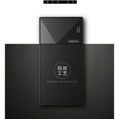 CARICABATTERIE PORTATILE POWER BANK REMAX THOWAY RPP-55 10000MAH NERO