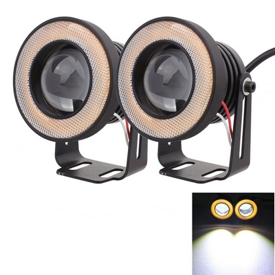 FENDINEBBIA LED ANGEL EYE DA AUTO E MOTO WATERPROOF LUCE BIANCA GIALLA 900LM 2PZ