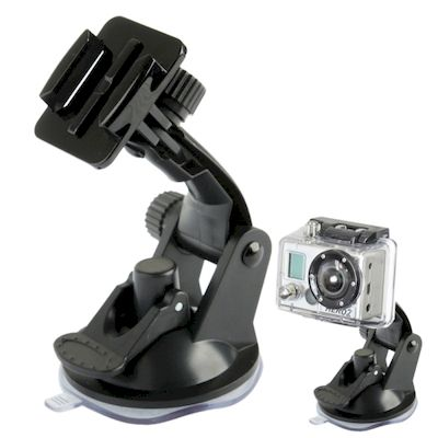 SUPPORTO DA AUTO ST-17 CRUSCOTTO VETRO VENTOSA PER GOPRO HD HERO 2/3/3+/4