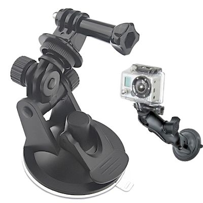 SUPPORTO CON VENTOSA 7CM ST-51 CON ADATT PER CAMERA GOPRO HD HERO 2/3/3+/4