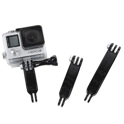 BRACCI DI ESTENSIONE IN NYLON 3IN1 PER CAMERA GOPRO HERO 4 / 3+ / 3 / 2